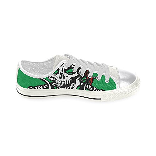 Classic skull Shoes skull Canvas for skull Women InterestPrint Classic Women InterestPrint for Shoes Canvas InterestPrint flag flag qw1F4vX