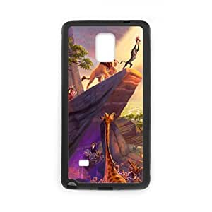 ROBIN YAM- Hard Protective The Lion King Cartoon Note 4 Rubber Coated Phone Case Compatible with Samsung Galaxy Note 4 IV -HFYB349