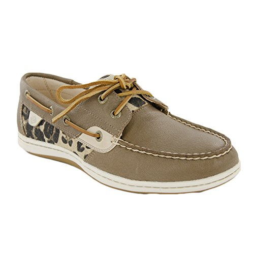 Core Barco Leopard koifish Sider Mujer Sperry Top Zapato Taupe xq4BZnp