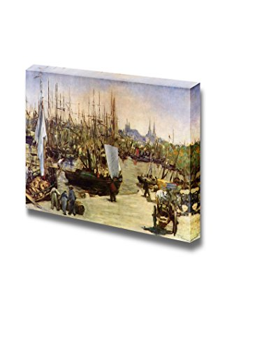 wall26 - Port of Bordeaux by Edouard Manet - Canvas Print Wall Art Famous Painting Reproduction - 24