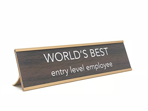aahs!! Engraving World's Best Entry Level Employee Novelty Nameplate Style Desk Sign (Best Entry Level Employees)