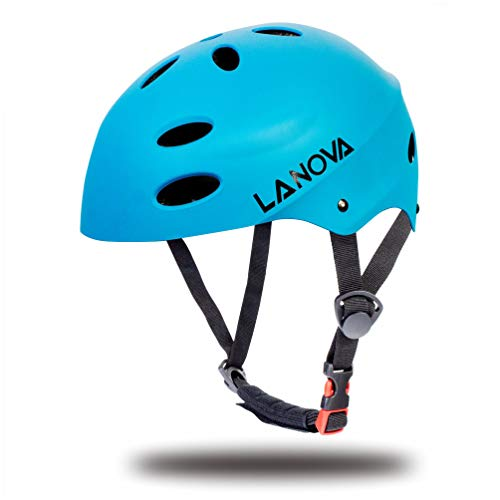 (LANOVAGEAR Toddler Helmet Adjustable from Kids to Youth CPSC Certified Kids Bike Helmet for Cycling Skateboard Inline Skating Rollerblading Longboard BMX)