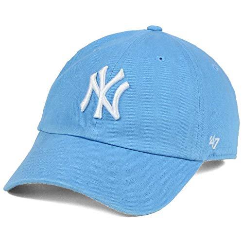 634afb5eeb8  47 New York Yankees NY Womens Powder Blue Strapback Slouch Clean Up Dad Ca.
