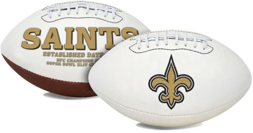 New Orleans Saints Embroidered Logo Signature Series Full Size (New Orleans Saints Signature Football)