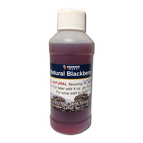 Brewer's Best 3702 Natural Beer and Wine Fruit Flavoring (Blackberry), 4 fl. oz.