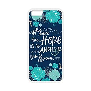 Bible Verse iPhone 6 Case,Apple iPhone 6 Case Slim Fit Skin Cover With Bible Verse Quote,We have this hope, Hebrew 619
