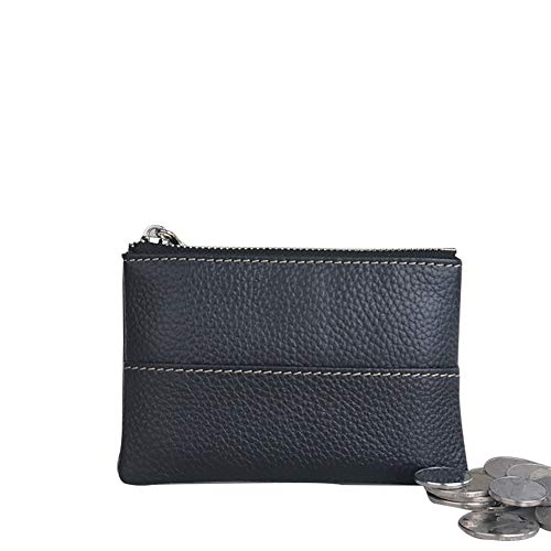 Zipper Men HBZ01 Women Leather Card Pouch Wallet Mini Tray Genuine Holder I Money Coin Purse qAzRwE