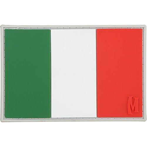 Flag Colors Italy - Maxpedition Gear Italy Flag Patch, Full Color, 3 x 2-Inch