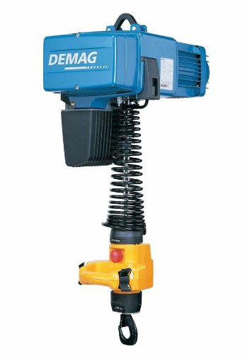 Demag 93202846 Manulift Electric Chain Hoist, 275 lbs Capacity, 9' Lift Height, 32/8 FPM Lift Speed, 460V