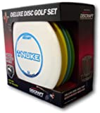 Discraft Deluxe Disc Golf Set (4 Disc and Bag)Models and plastic blends may vary