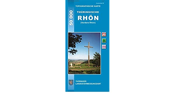 Topographische Karte Thuringen Thuringische Rhon Vordere Rhon