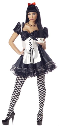 California Costumes Malice in Wonderland Adult Costume - Medium, Black/White