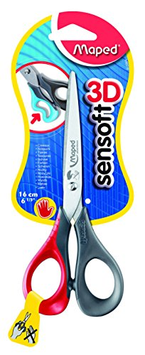 Maped Sensoft 3D Left-Handed Scissors with Flexible Handles,