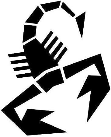 "Fiat Abarth Scorpion Decal Sticker JDM Funny Vinyl Car Window Bumper Truck 7/"""
