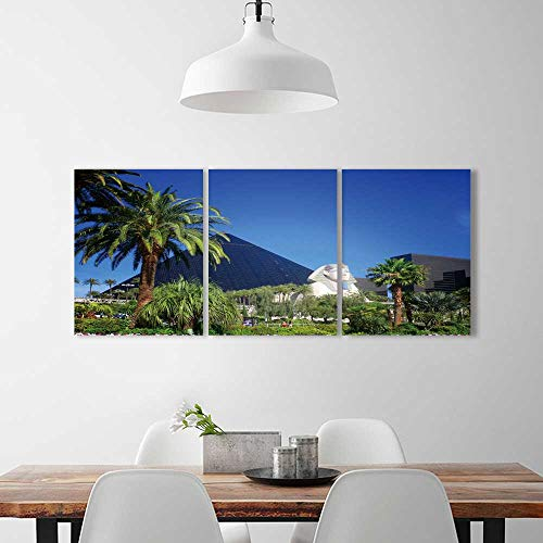 3 Pieces Multiple Pictures Wall Art Frameless Luxor Hotel Casino on Las Vegas Strip Perfect Wall Decoration