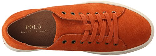 Polo Ralph Lauren Mens Jermain Fashion Sneaker Bright Signal Orange