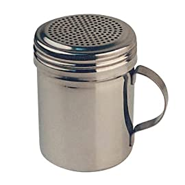 Winware Stainless Steel Dredges 10-Ounce with Handle 1 10-Ounce capacity Seamless stainless steel design With handle