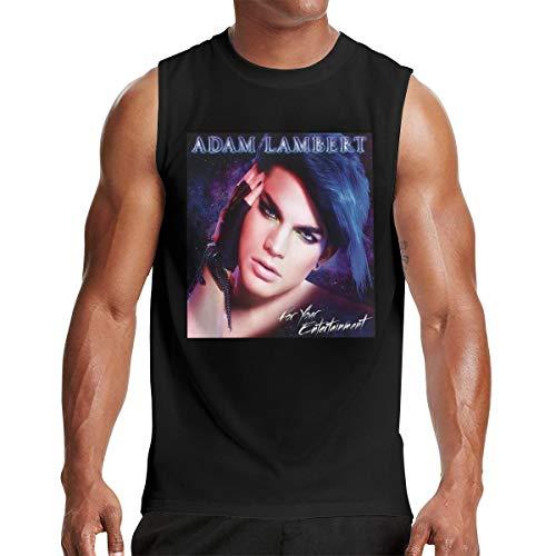 Adam Lambert Men Performance Muscle Sleeveless Shirt Tank Top XXL Black (Adam Lambert Best Performance)