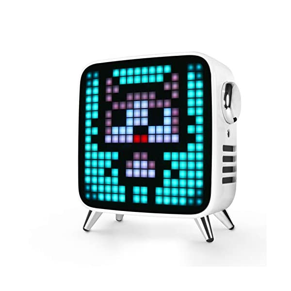 Divoom Tivoo Max Multifunctional 40w Premium Led Gaming Bluetooth Speaker With 10000 Mah Lion Battery White