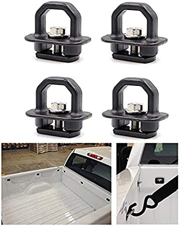 KAWELL 2 Pack Tie Down Anchors Truck Bed Side Wall Anchors Fits Chevy Silverado GMC Sierra Chevy Colorado GMC Canyon
