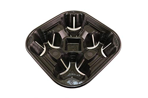 Reusable Plastic Drink Carrier Tray BevTray (Black)