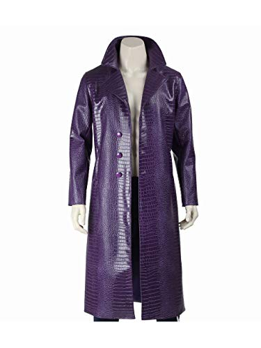 The Joker Suicide Squad Jared Leto Purple Coat - Halloween Costume (XL)