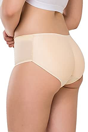 FORMeasy Women`s Seamless Butt Shaper, Butt Lifter Padded Panty, Enhancing Body Shaper, Hip Enhancer Shapewear Control Panties Underwear, Breathable Comfortable To Use, Beige-Nude, Small/Medium