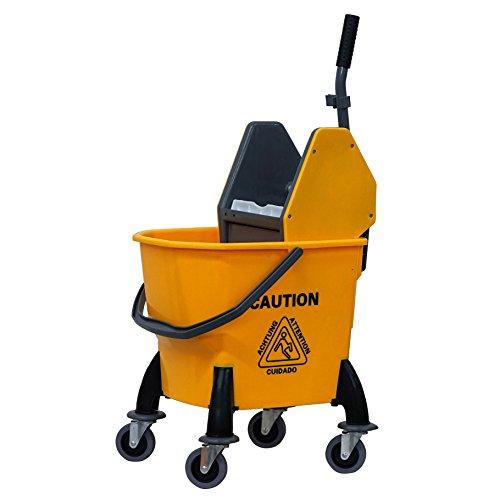 Metal Side Press Wringer (MOUNTO Commercial Quality Side Press Mop Bucket with Wringer (26 Quart))