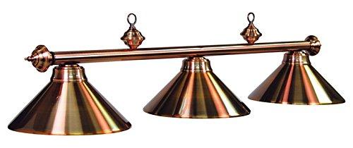 54In. 3Lt Billiard Light- Antique Copper Finish