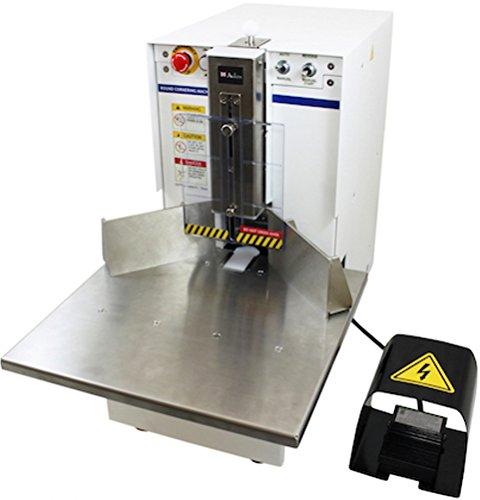 Akiles Diamond-7 Corner Rounding Equipment, 2-3/4″ (70mm)/700 Sheets (20 lb) Maximum Capacity, 1/4″ Included Die, Large Work Table, Heavy-Duty Foot Pedal, Storage & Trash Bin, Manual & Auto Mode Corner Rounding Equipment