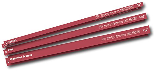 Rose Levy Beranbaum Signature Series Rose's Fast Tracks Dough Thickness Rails, Red