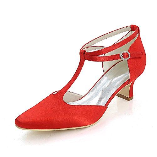 Damen Hochzeit Schuhe Comfort Basic Pump & Evening Frühling Sommer Satin / High Heels / Party Blue