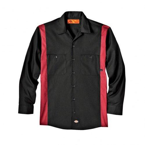 Dickies - - Männer Langarmshirt Bk / Ch 2Tone Dow-Shirt, X-Large, Black