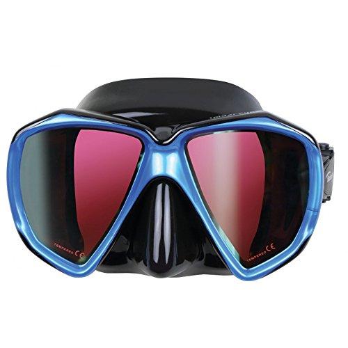 Scuba Max Spider Eye Color Lens Mask (Black/Blue/Rose Lens)
