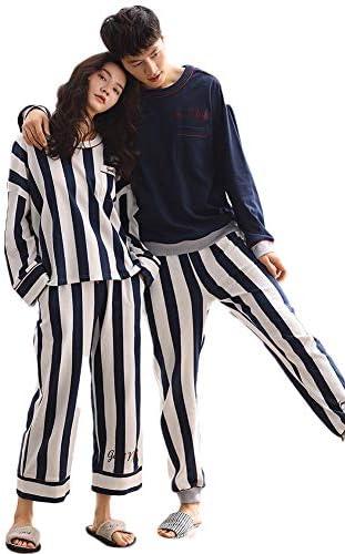 夫婦 ペアパジャマ 春 寝巻き 人気 両親 パジャマペア 綿 結婚祝い プレゼント ペア パジャマ パジャマレディース 可愛い 大きいサイズ 上品 高級 ネイビー 紺 ストライプ