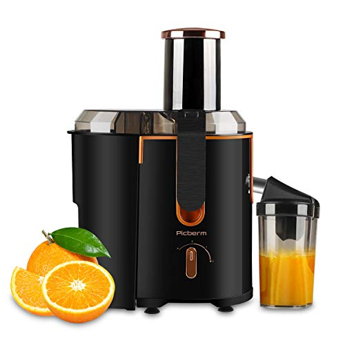 Juicer Extractor Picberm Wide Mouth Juicer Machines, 3 Speed Centrifugal Juicer for Fruit and Vegetable, Powerful Juicer with Plus Pulse Function, 800W/20000RPM, Easy to Clean & BPA Free, Black (Best All Around Juicer)