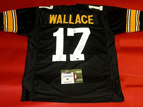 MIKE WALLACE AUTOGRAPHED PITTSBURGH STEELERS THROWBACK JERSEY AASH LAST ONE