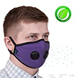 ToRespire Pollution Mask Military Grade Protection N99 N95 Anti Dust w/Antiviral Filters Reusable & Washable Face Respirator w/Adjustable Head Straps for Men Women