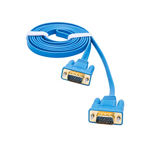 DTECH Ultra Slim Flat Computer Monitor VGA Cable 10 Feet in