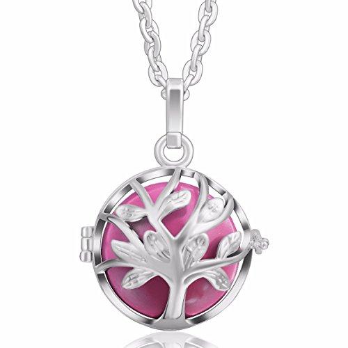 [Life Tree] Eudora Harmony Bola Angel Caller 18mm Pregnancy Pendant Mexico Perfume Necklace 30 inches Pink
