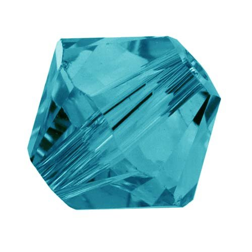 Swarovski Crystal, 5328 Bicone Beads 5mm, 20 Pieces, Indicolite