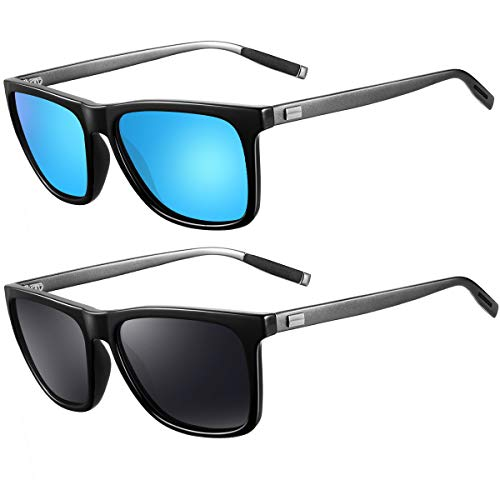 Sunglasses for Men Polarized Sunglasses - FEIDU Polarized Sunglasses UV400 Protective FD9003 (black-blue)