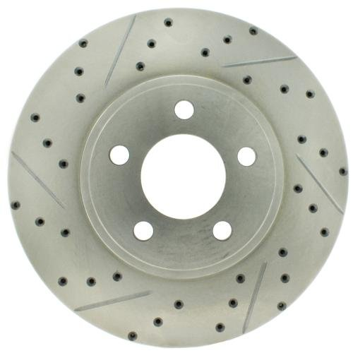 StopTech 227.61072R Select Sport Drilled and Slotted Brake Rotor; Front (Front Right Slotted Rotor)