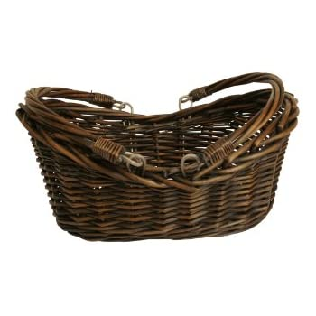 "Wald Imports Brown Willow 13.5"" Decorative Storage Basket"