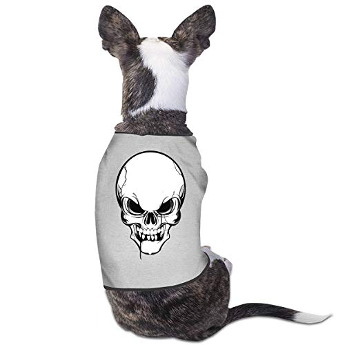 Dog Cat Pet Shirt Cute Puppy Apparels Clothes Kitten Vest Soft Thin Skull Skeleton Tattoo 3 Sizes