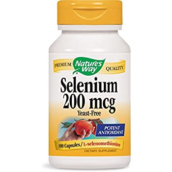 Nature's Way Selenium 200 mcg; L-selenomethionine; 100 capsules