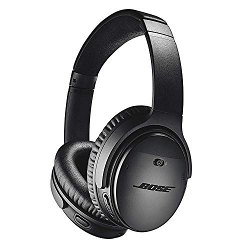 (Bose QuietComfort 35 II Wireless Bluetooth Headphones, Noise-Cancelling, with Alexa voice control, enabled with Bose AR – Black)