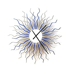 Medusa arctic - 16 Contemporary Handmade Wooden Wall Clock with Colors of Ice by ardeola