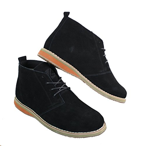 Simili Chelsea Daim Chic Homme Chaussures Décontracté Montantes Style Lacets Noir Bottines Nnw0vPym8O