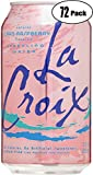 La Croix Crans-Raspberry Naturally Essenced Flavored Sparkling Water, 12 oz Can (Pack of 20, Total of 240 Oz)
